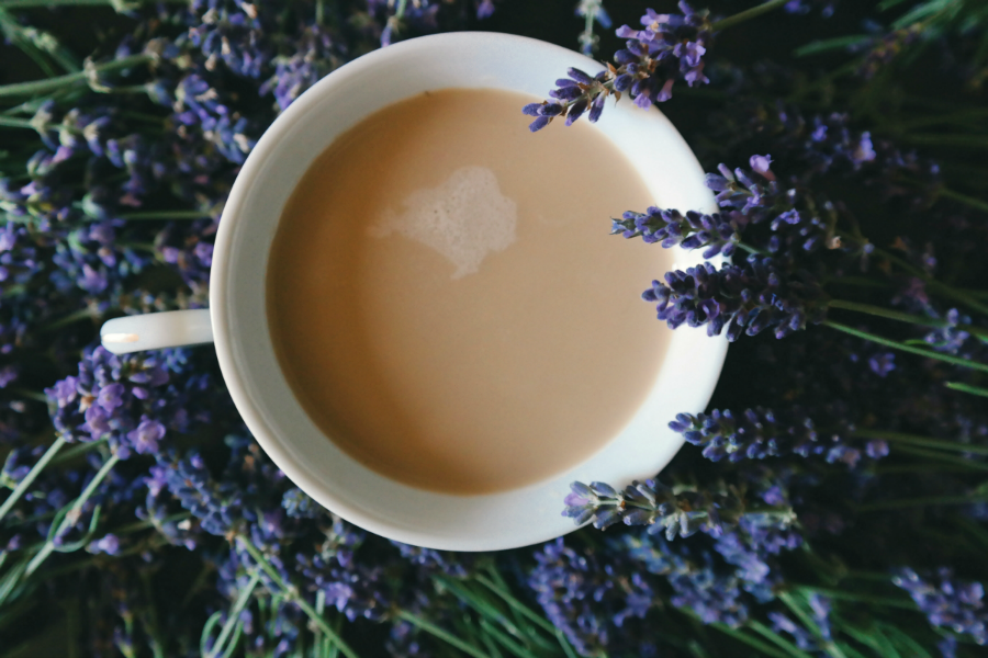 Lavender Milk Tea time relax reflect spiritual