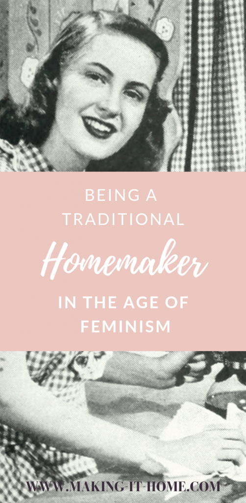 Feel like you're alone as a traditional homemaker in the world of 3rd wave feminism. Tips on how to survive as a less than modern woman. How to cope with feminists.