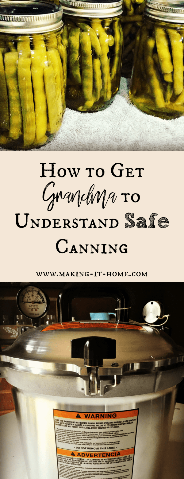 Why is it always a fight when we try to talk to grandma about safe canning? How do we get her to understand that just because no ones died from her canning, it doesn't mean its safe? Learn how to get the older generations on your side or at least stop fighting you when it comes to canning the harvest this year.