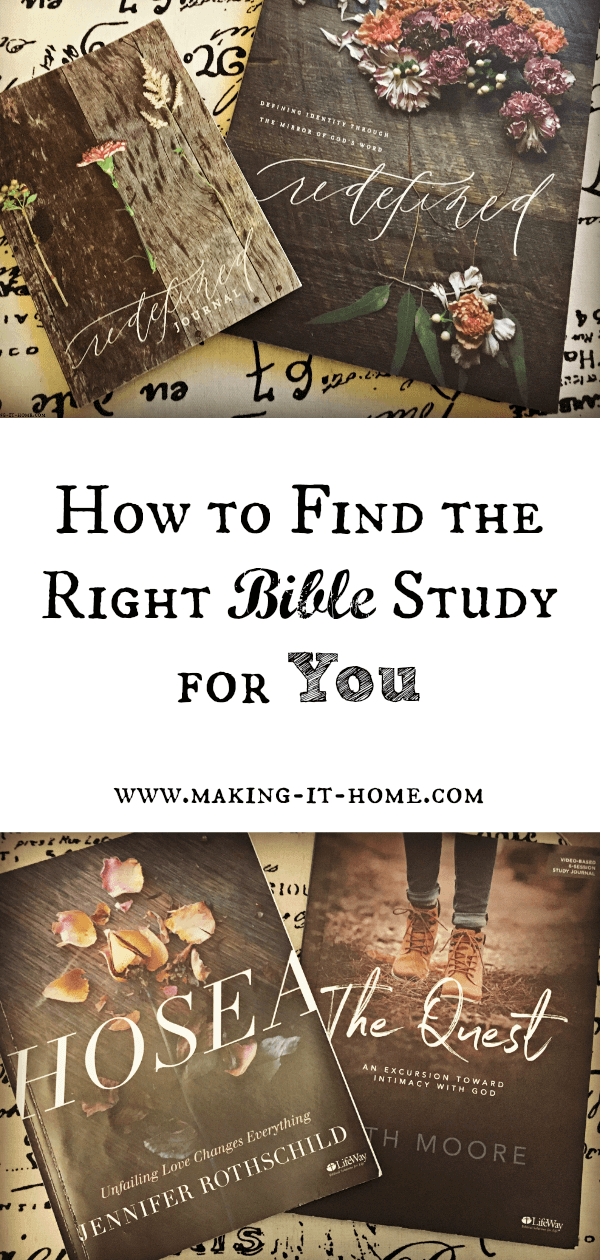 How do you choose the right Bible study for you? There are so many to choose from; online, small group, women's bible study, men's studies, and Bible retreats. Find the right fit for you.