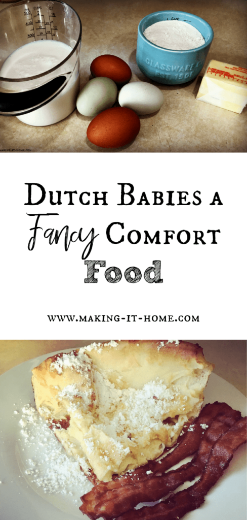 Dutch Baby Pancakes ~ Fancy Comfort Food for Breakfast