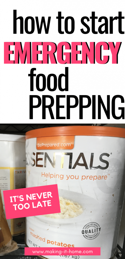 How to Start Emergency Food Prepping