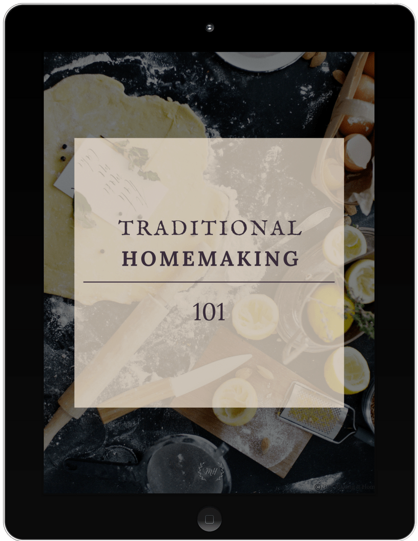 traditional homemaking 101 free printable