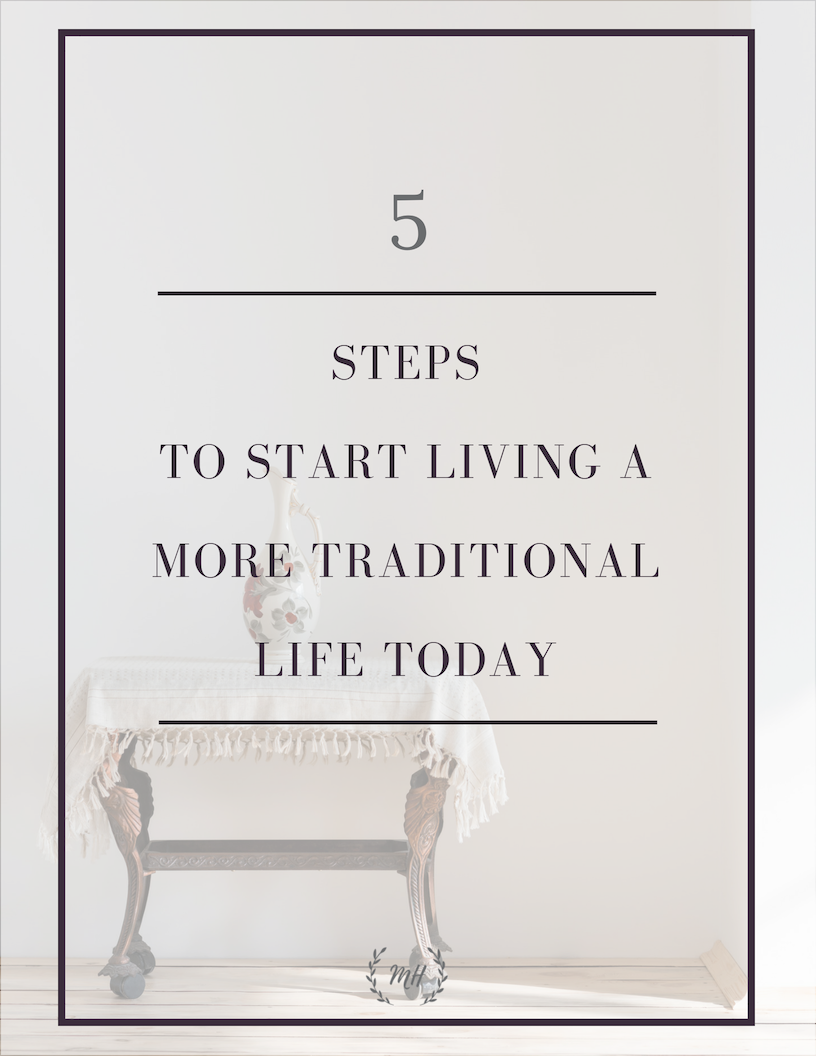 Traditional living tips freebie