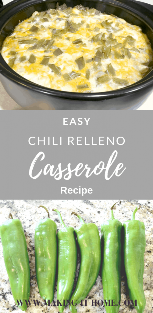 Looking for something easy and tasty for dinner? Do you love chili rellenos? Try this easy chili relleno casserole recipe tonight. A sure crowd pleaser! #casserole #chilirelleno #dinnerrecipes #mexicanfood #cheesycasserole #familydinner #mealprepideas #mealplanning