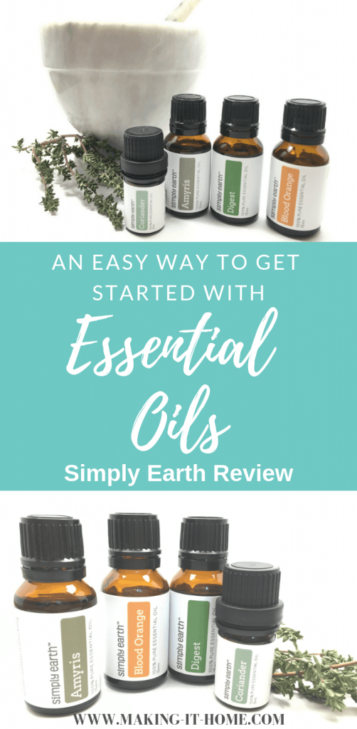 Looking for a way to start using essential oils in your home safely and cheaply? Check out my review of a great essential oil business that isn't an MLM! Find out what I absolutely love about Simply Earth essential oils and their dedication to safe essential oil use and ending human trafficking! Get started using essential oils safely and cheaply in your home today! #essential oils #naturalhome #homemaker