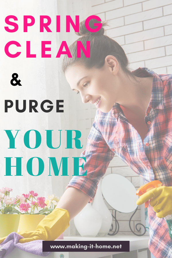 spring clean & purge your home printable worksheet