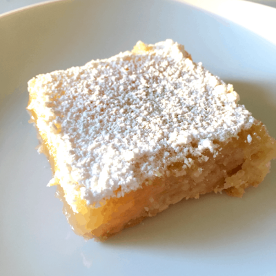 Easy Lemon Bar Recipe ~ A Taste of Summer