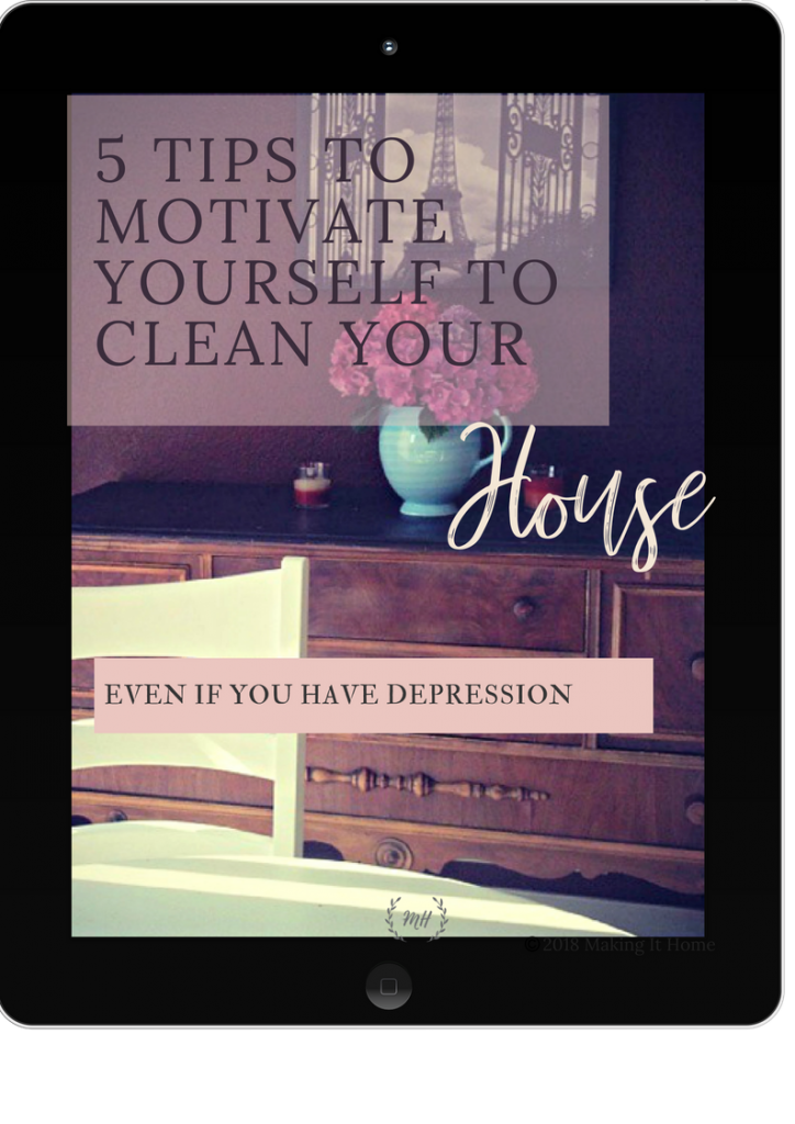 5 Tips to Motivate Yourself To Clean Your House Printable