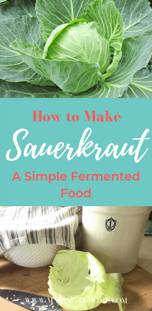 how to make sauerkraut cabbage and fermenting crock