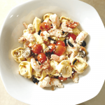 summertime no oven dinner ideas bacon shrimp tortellini pasta salad recipe