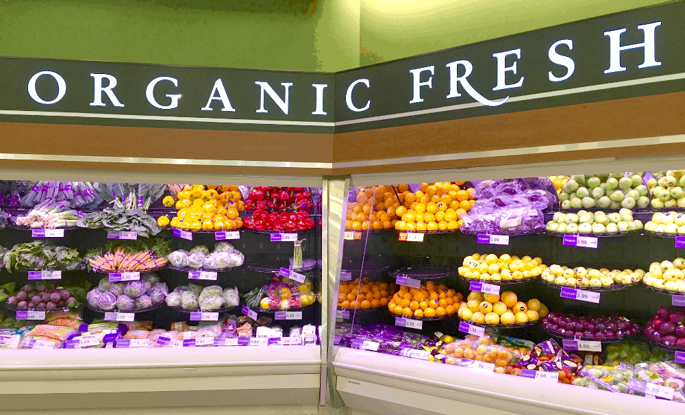 Grocery store organic produce