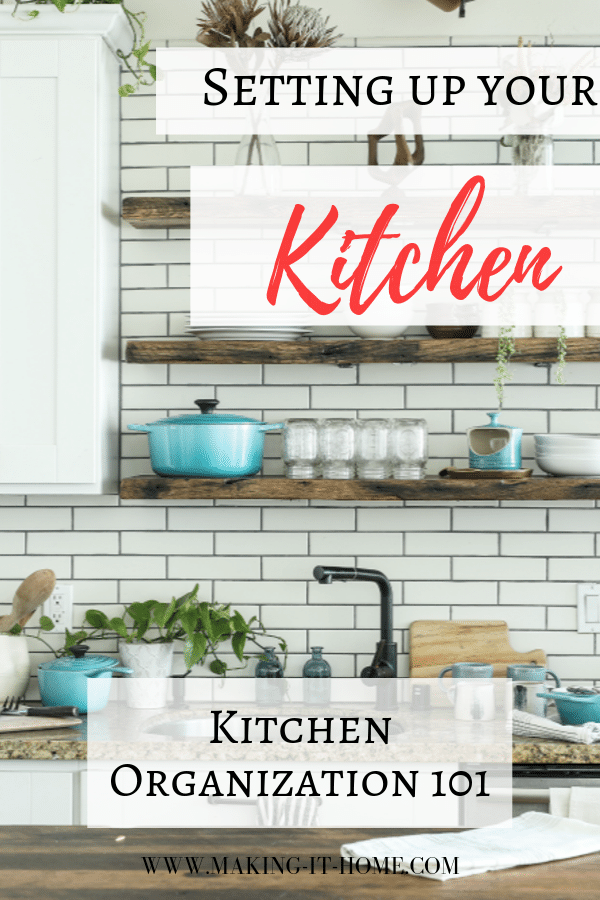 setting up your kitchen kitchen organization 101
