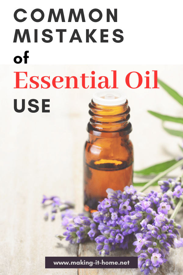 image with essential oil bottle and lavender Common Mistakes of Essential Oil Use