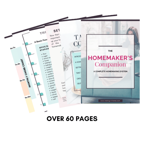 pages of the homemaker's companion from making it home